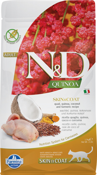 N&D Cat Quinoa Skin&coat Quail